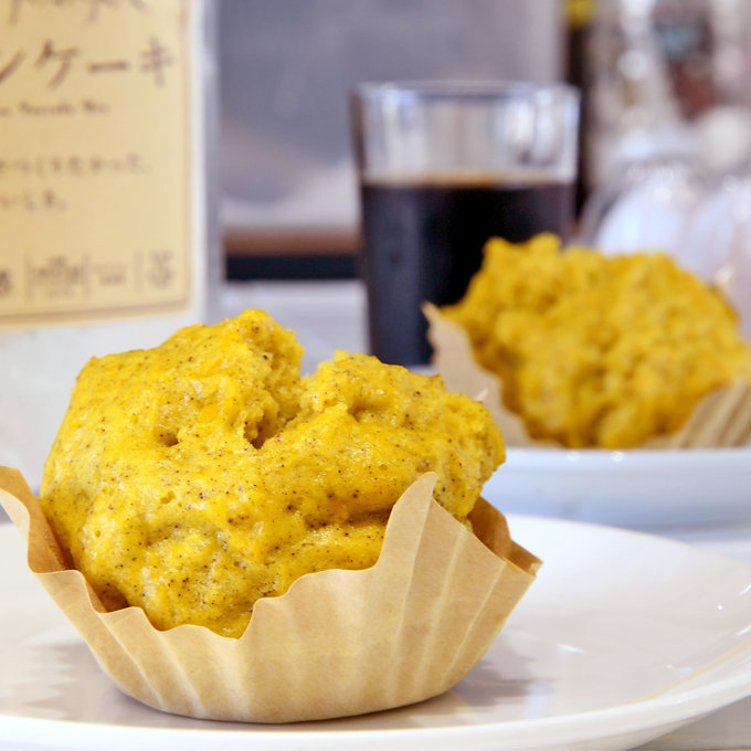 かぼちゃの蒸しパン(卵あり)
